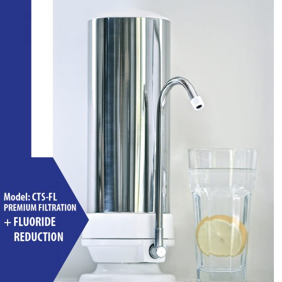 Cooee Countertop Silver - Fluoride Reduction Filter
