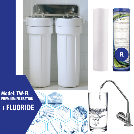 Cooee Water Twin Undersink with Fluoride Cartridge